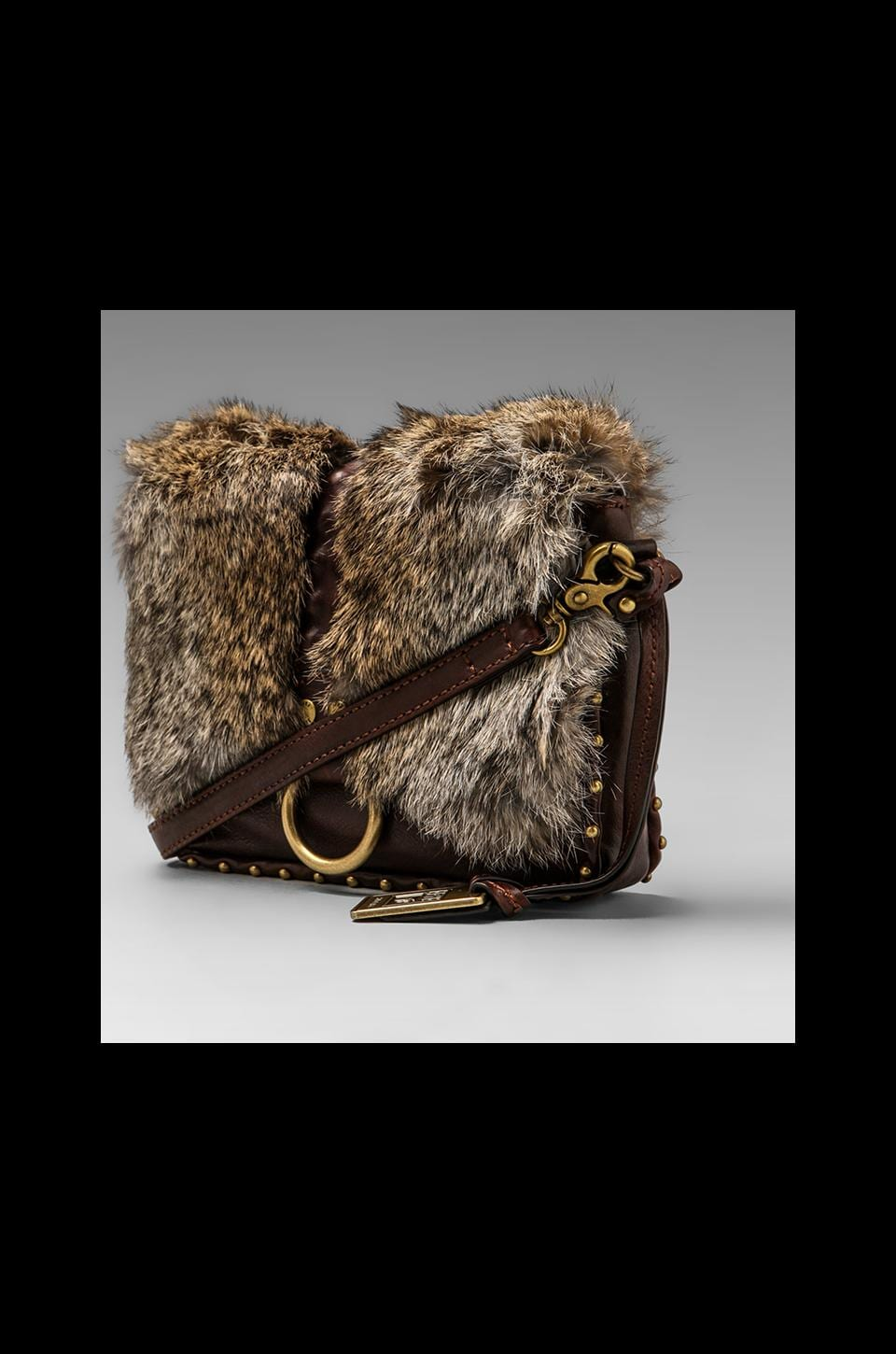 Frye Roxanne Crossbody Clutch in Dark Brown