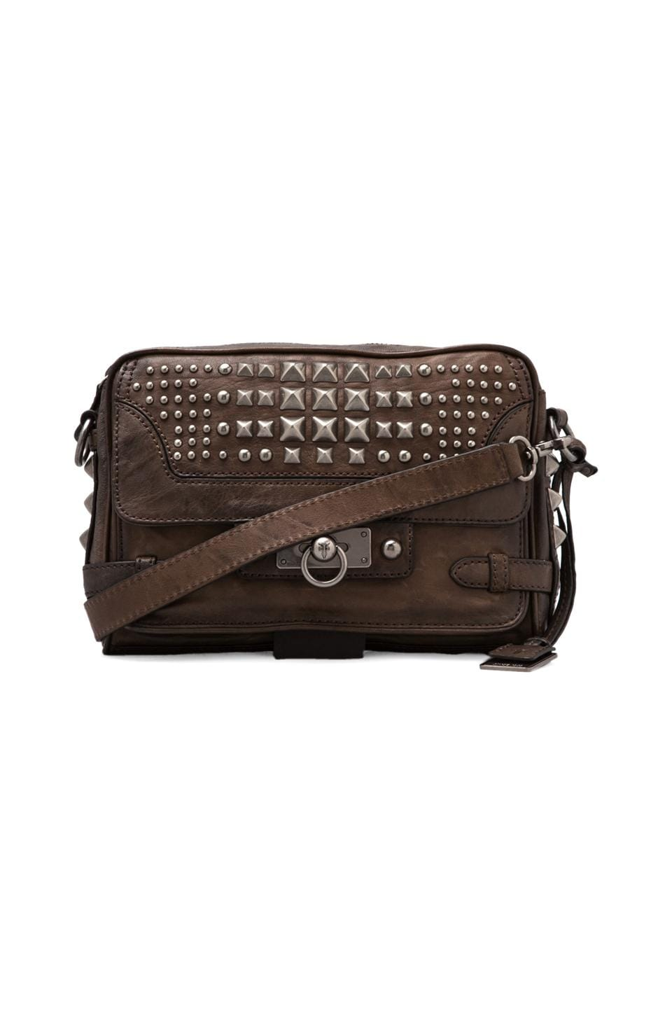 Frye Cameron Studded Clutch in Taupe