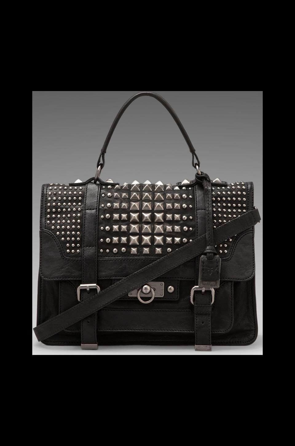 Frye Cameron Studded Satchel in Black