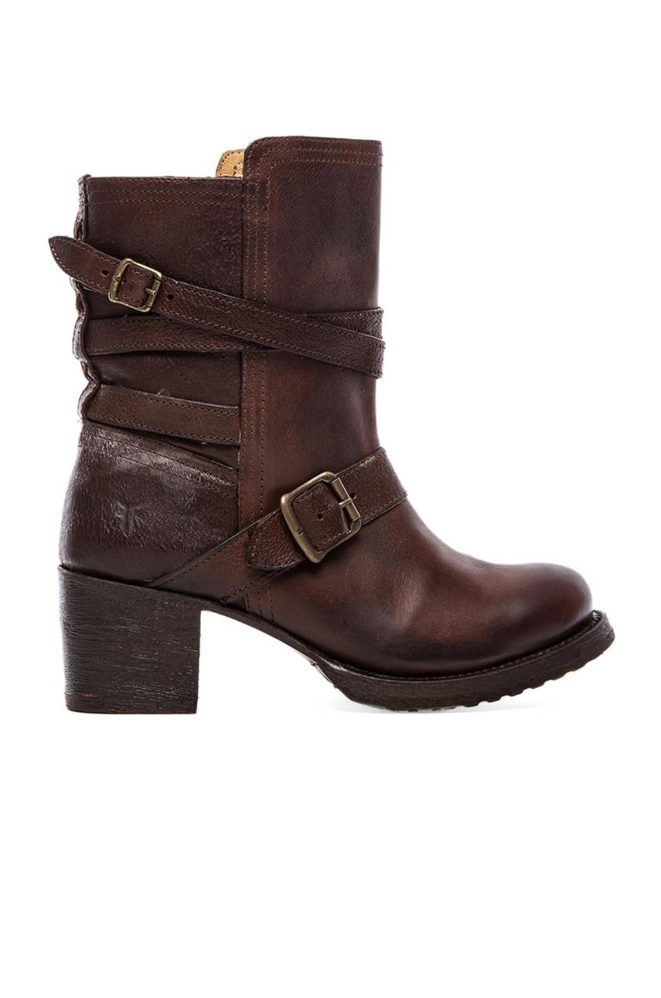 Frye Vera Strappy Boot in Brown