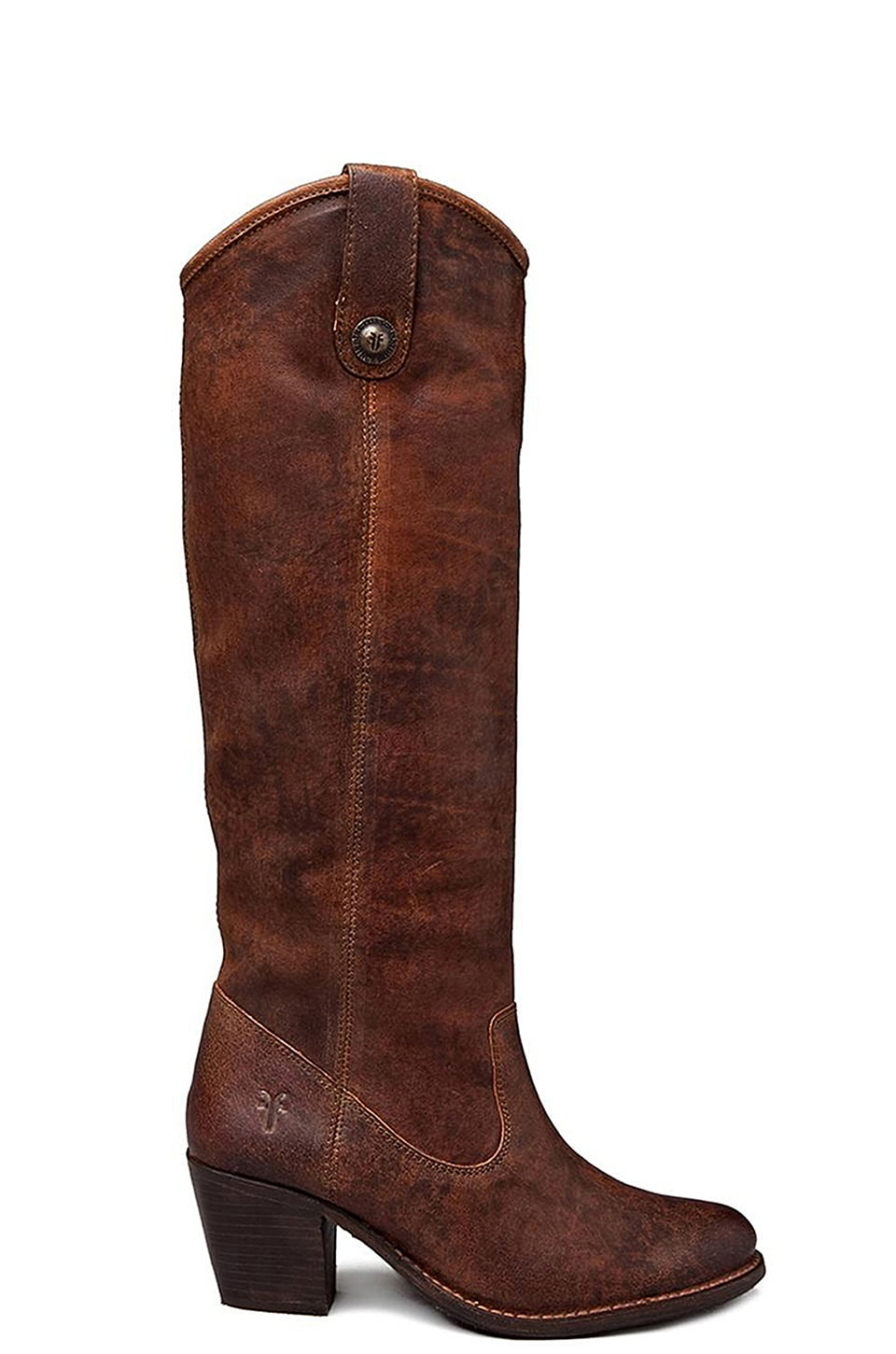 Frye Jackie Button in Cognac