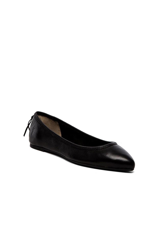 Frye Regina Ballet Flat in Black