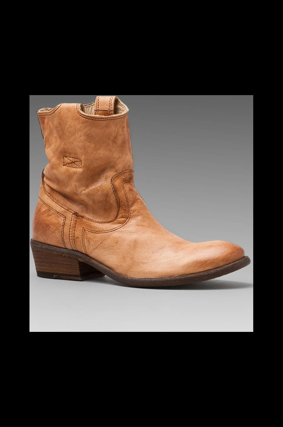 Frye Carson Tab Short Boot in Camel