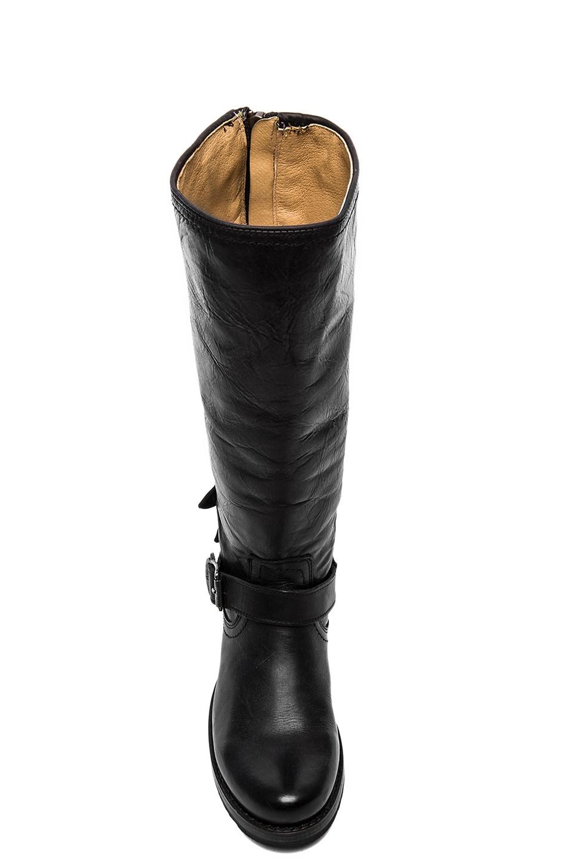 Frye Veronica Moto Back Zip Boot in Black