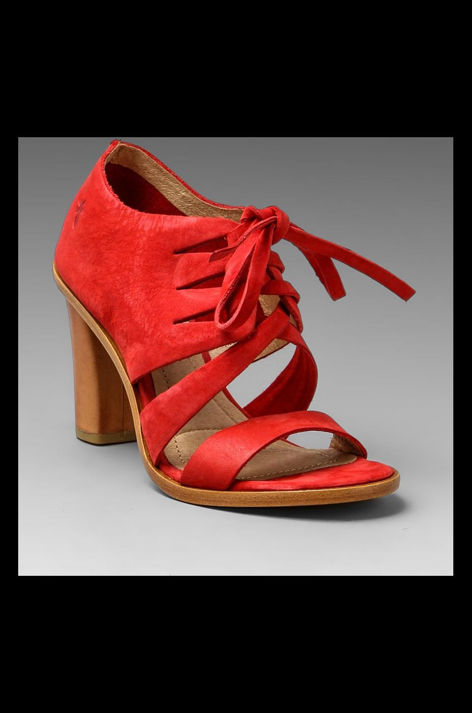 Frye Sofia Tie On Bootie in Red
