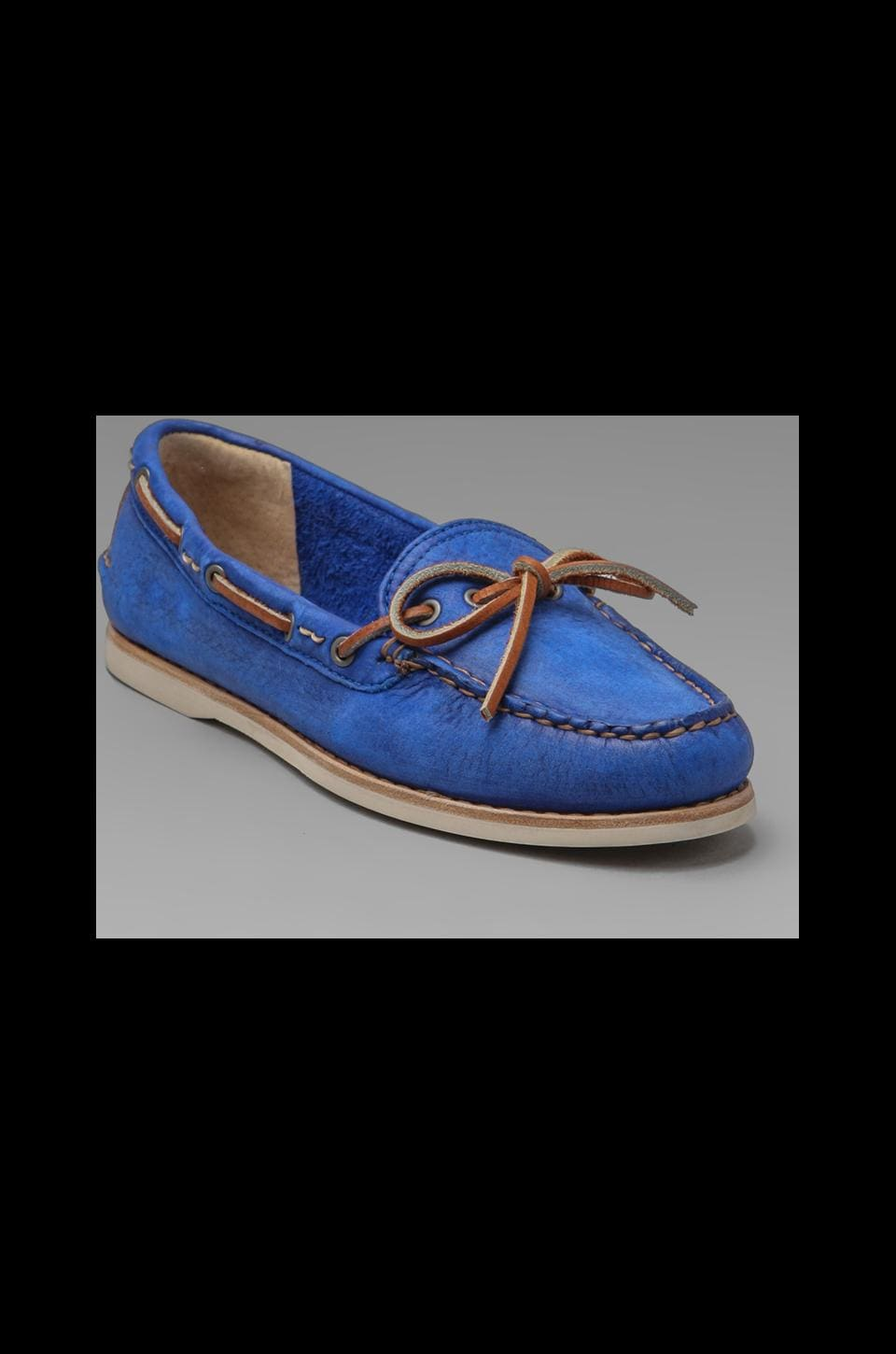 Frye Quincy Tie Boat Shoe in Blue