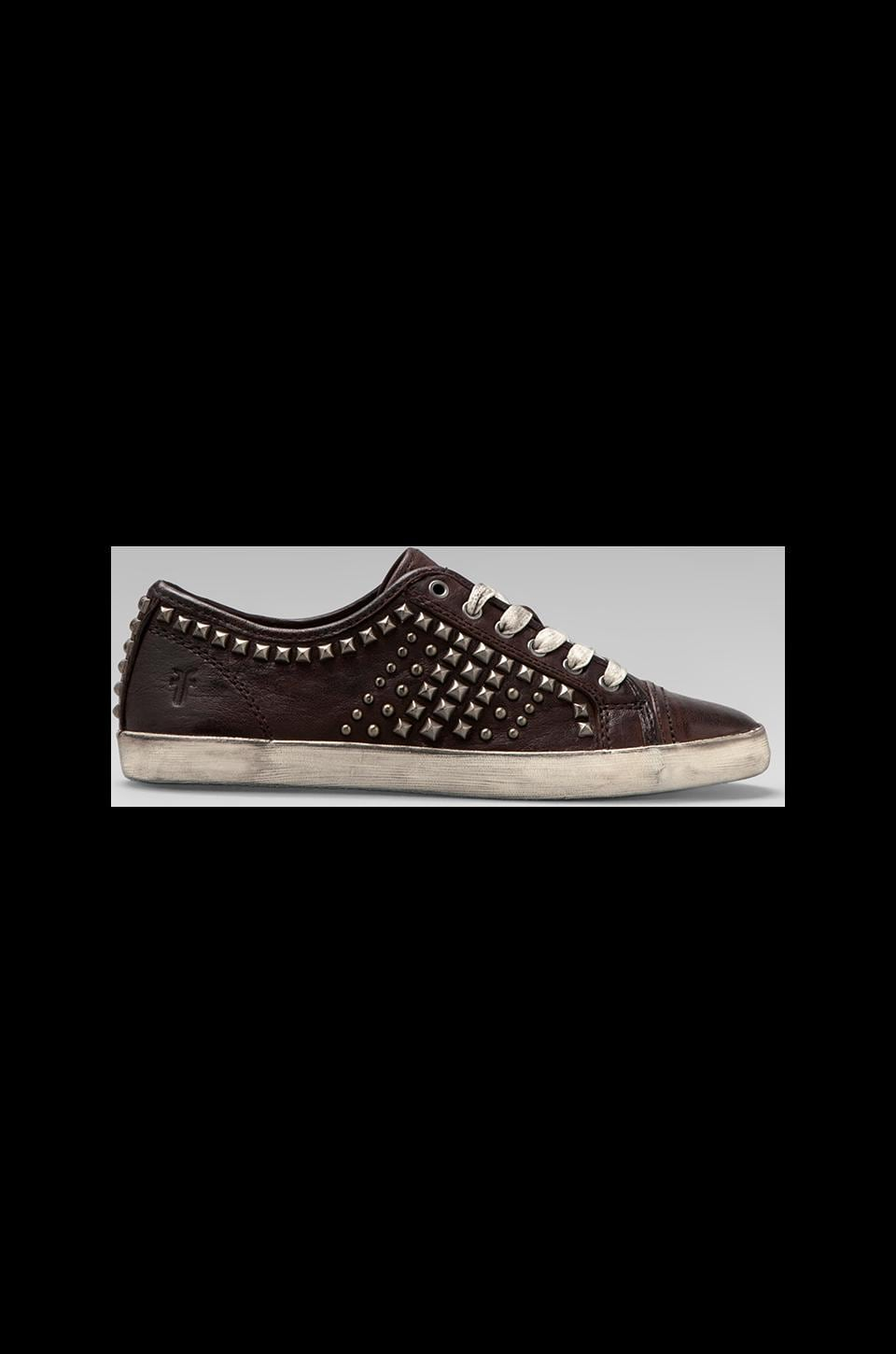 Frye Kira Biker Low Top in Dark Brown