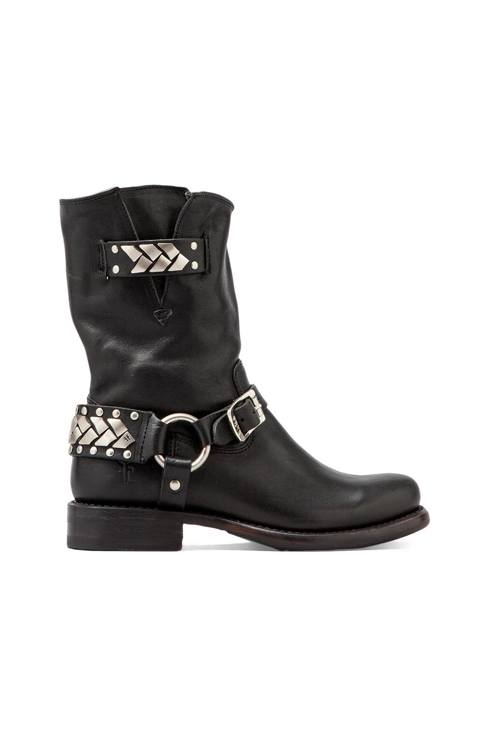 Frye Jenna Braid Stud Short Boot in Black