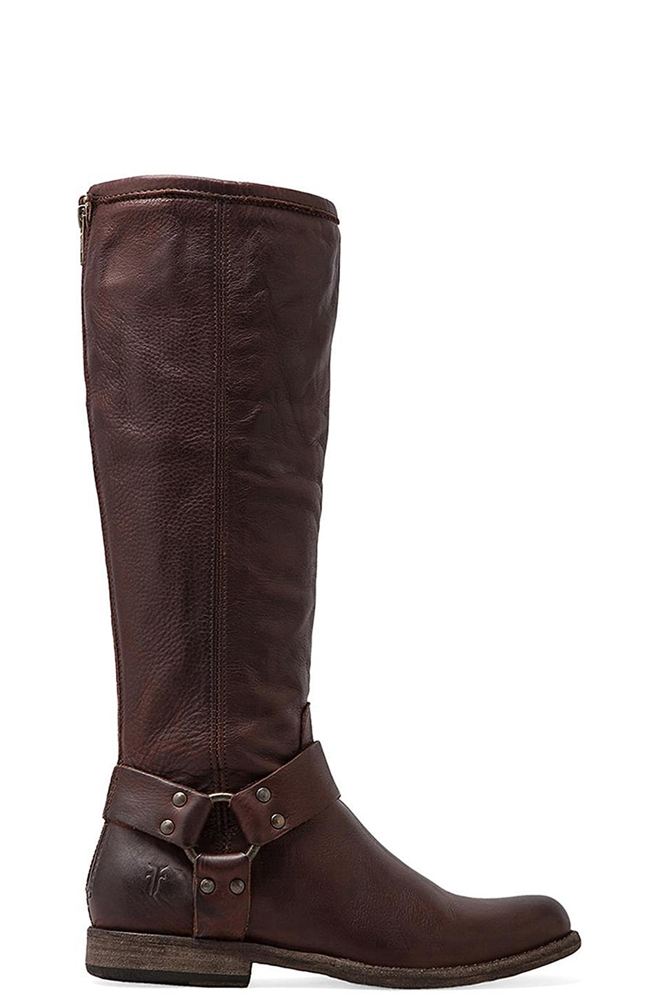 Frye Phillip Harness Tall Boot in Dark Brown