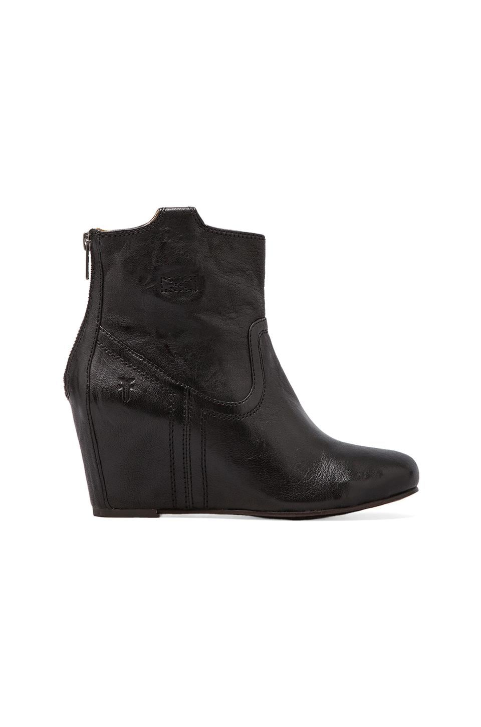 Frye Carson Wedge Bootie in Black