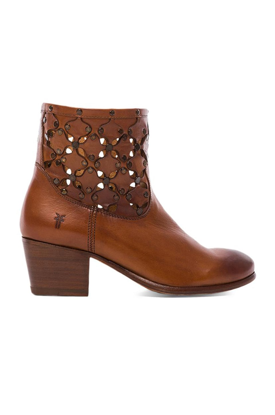 Frye Courtney Stud Overlay Bootie in Whiskey