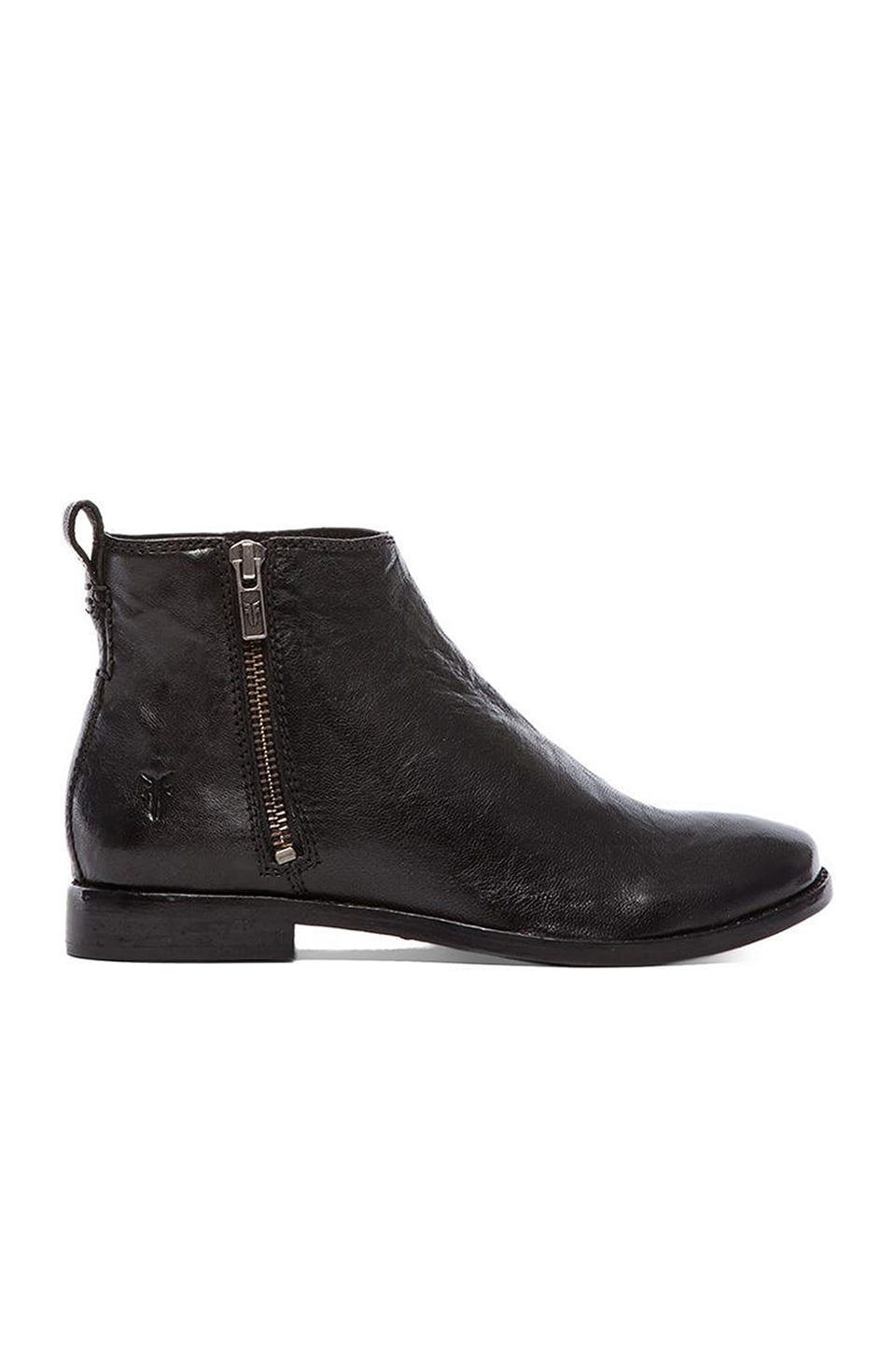 Frye Anna Outside Zip Shootie in Black
