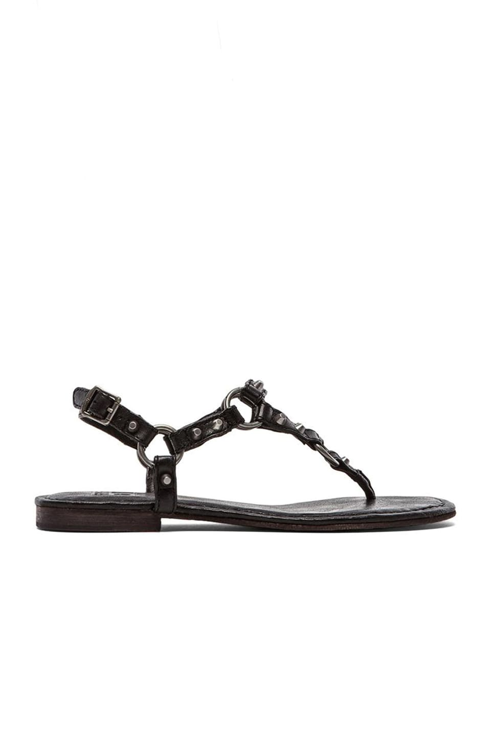 Frye Carson Ring Thong Sandal in Black