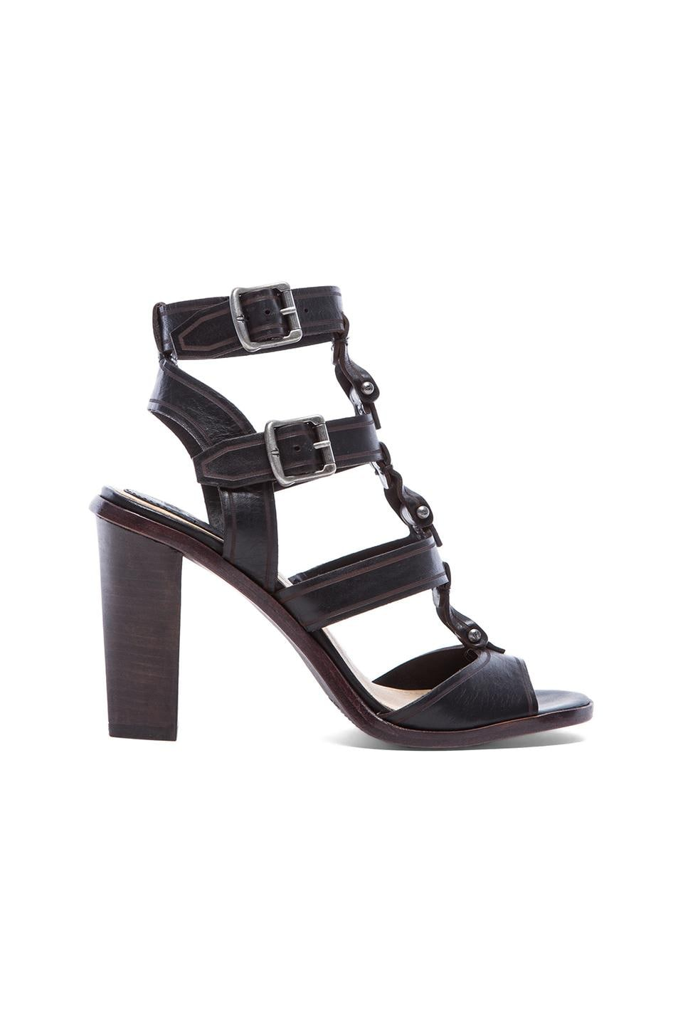 Frye Sonia Y Strap Gladiator in Black