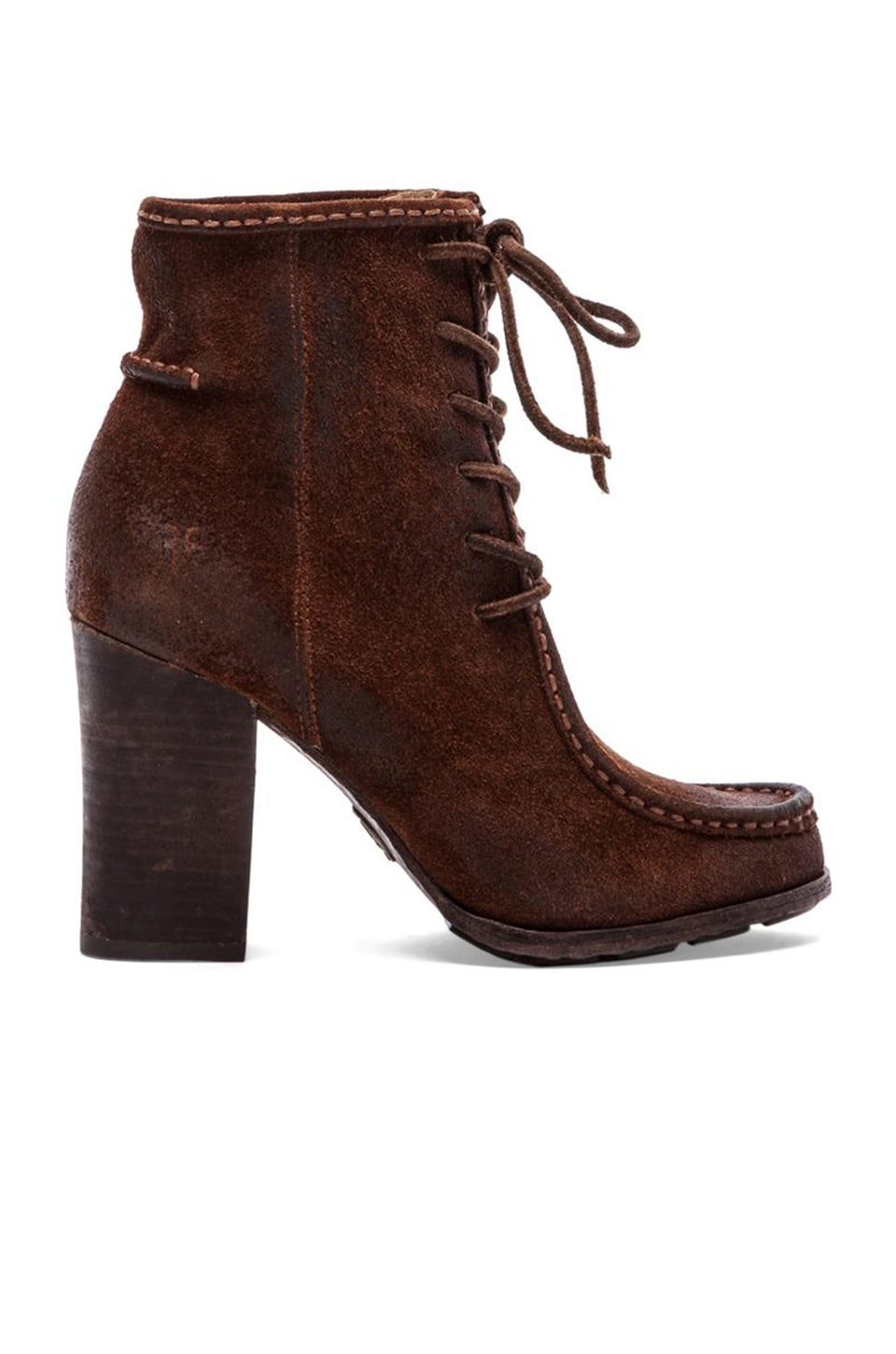 Frye Parker Moc Short Boot in Brown