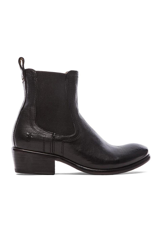 Frye Carson Chelsea Boot in Black
