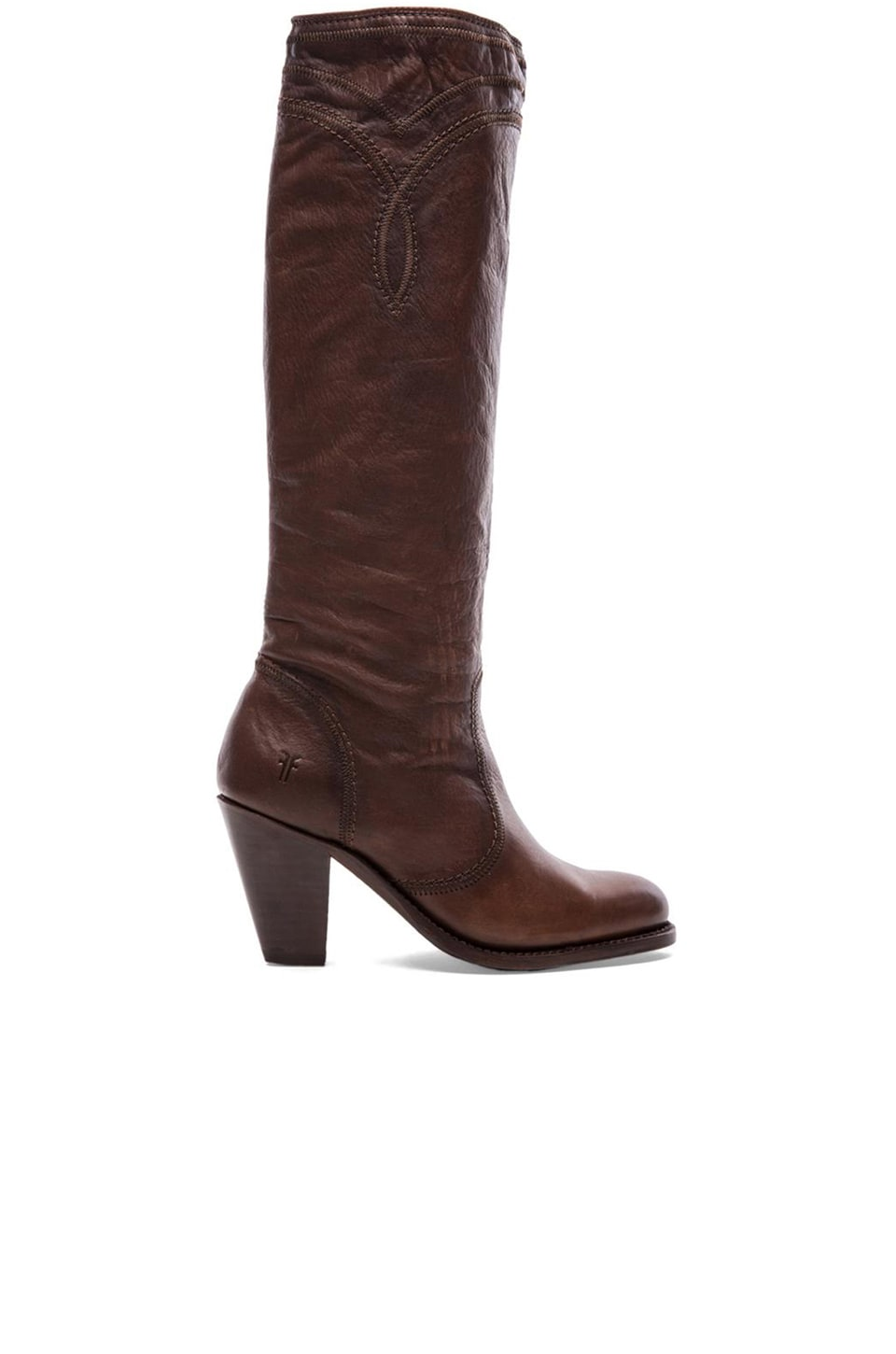 Frye Mustang Stitch Tall Boot in Cognac
