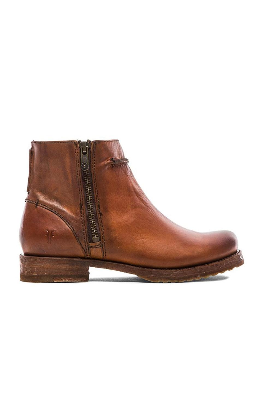 Frye Veronica Seam Short Boot in Cognac