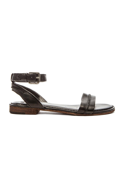 Frye Philip Seam Ankle Sandal in Black