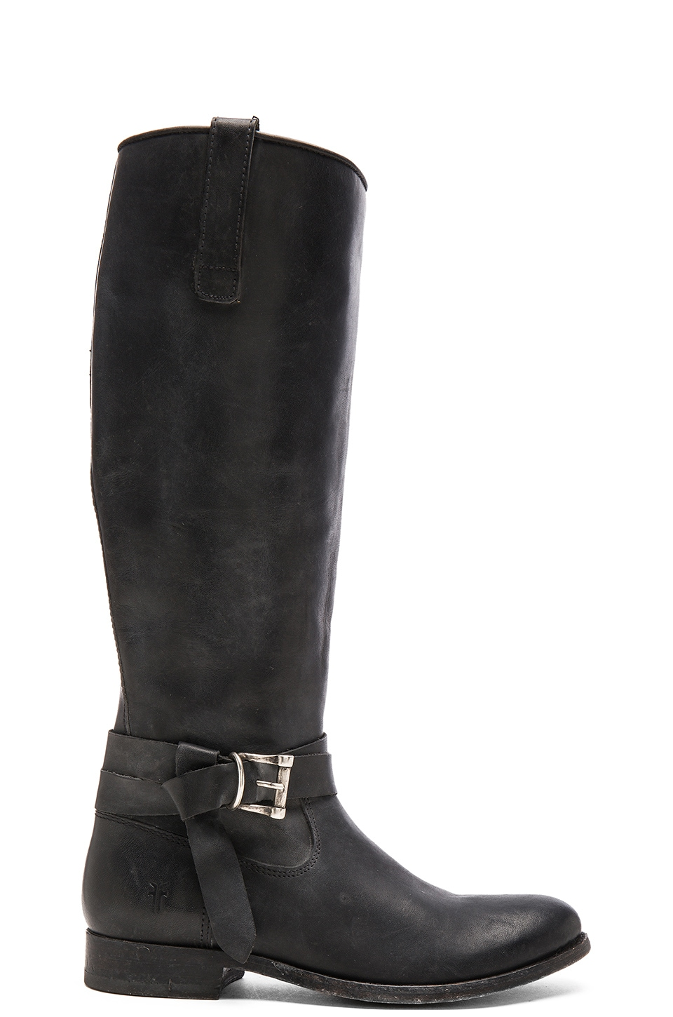 Frye Melissa Knotted Tall Boot in Black