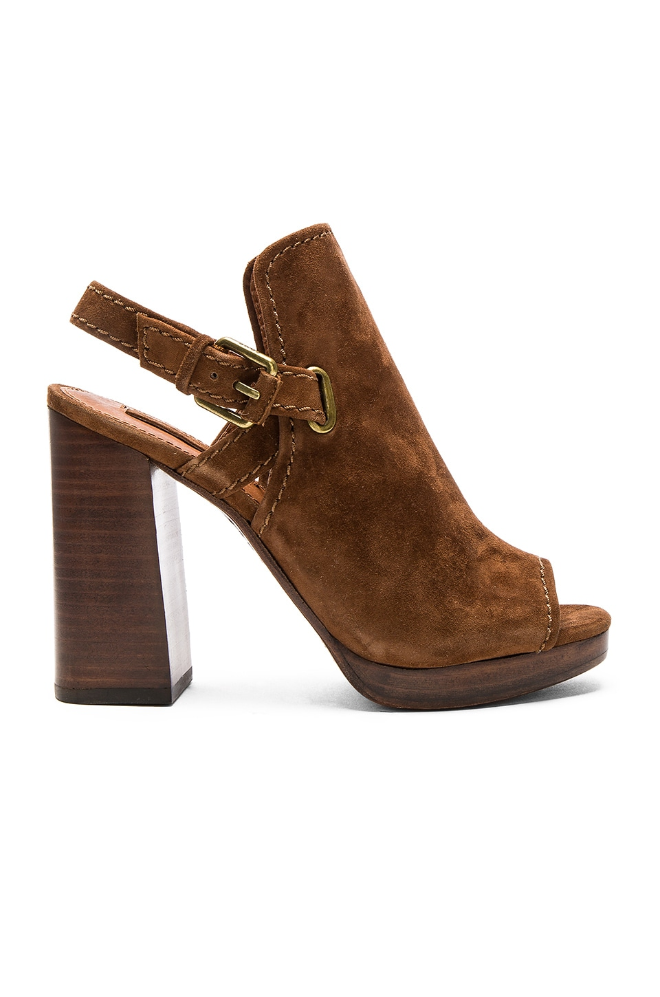 Frye Karissa Shield Sling Sandal in Wood