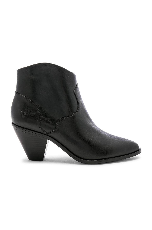 Frye Lila Western Short Boot in Black