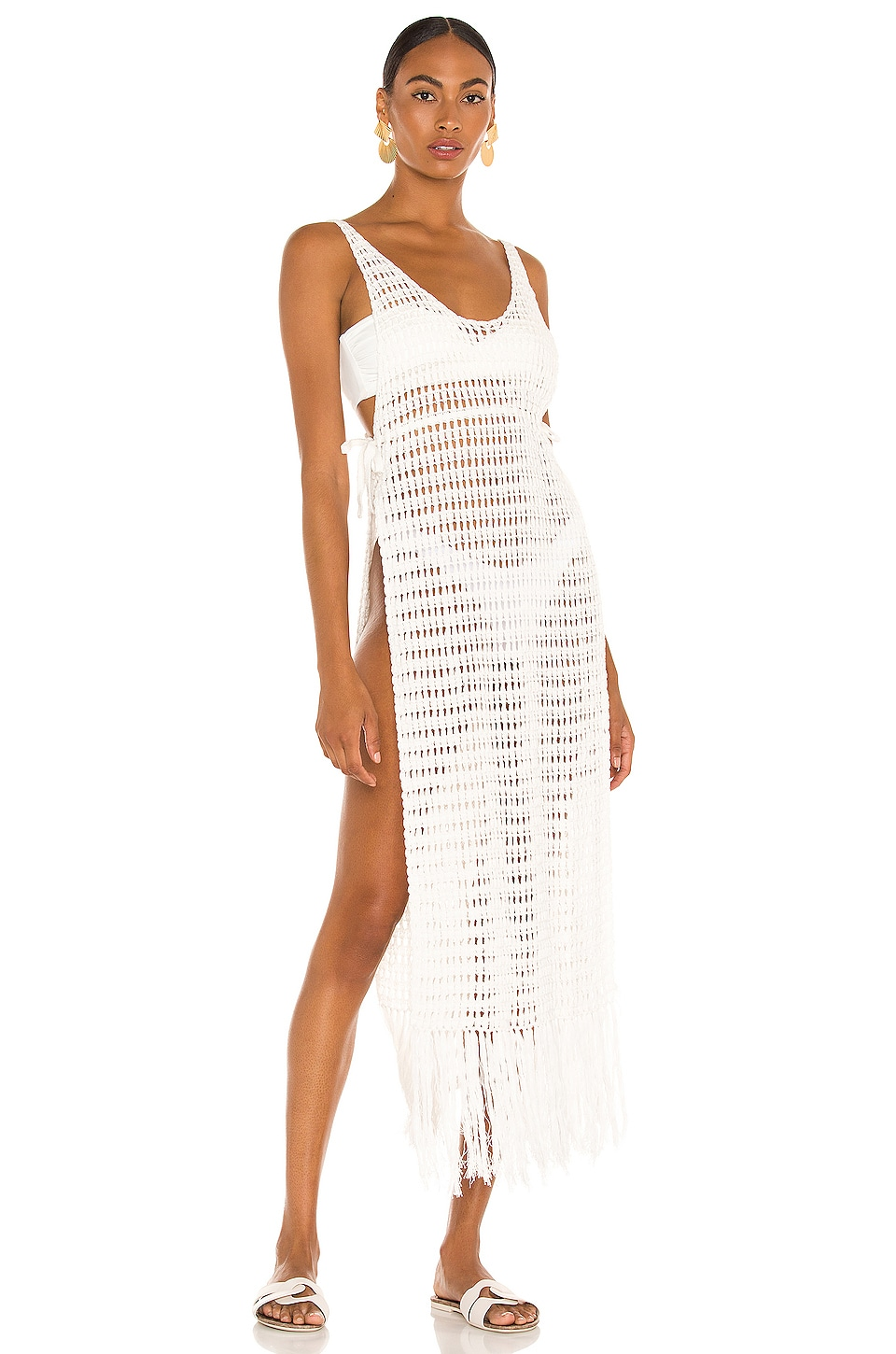 Flook The Label Kiss The Sky Tunic in White