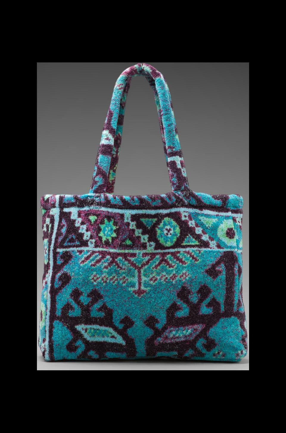 Fresco Towels Medium Beach Bag in Aztec Blue