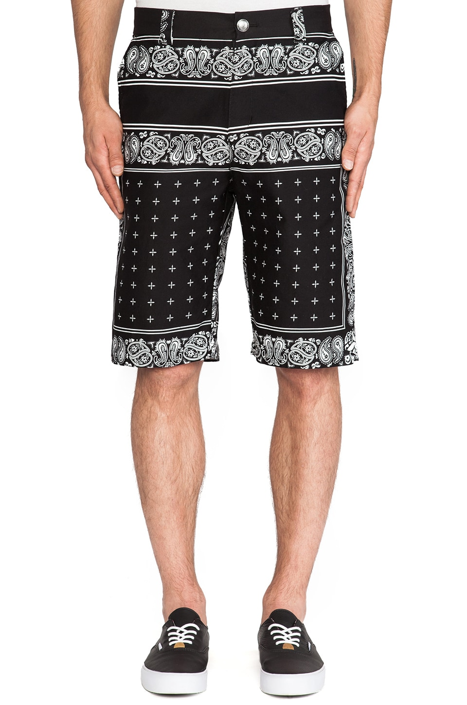 Fuct SSDD Death Bunny Bandana Shorts in Black