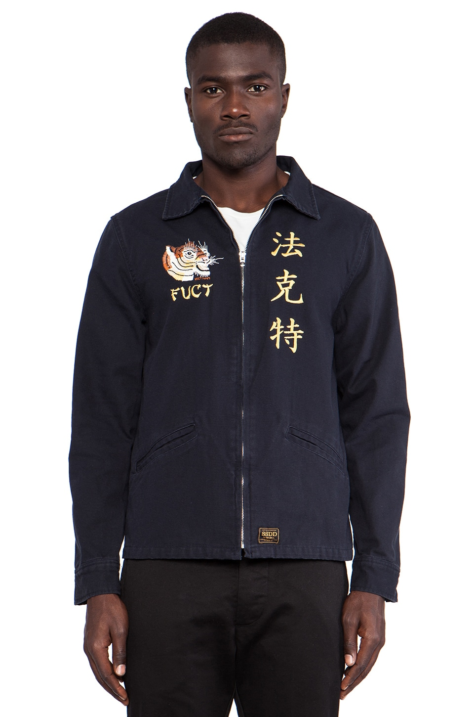 Fuct SSDD CA. Souvenia Jacket in Navy