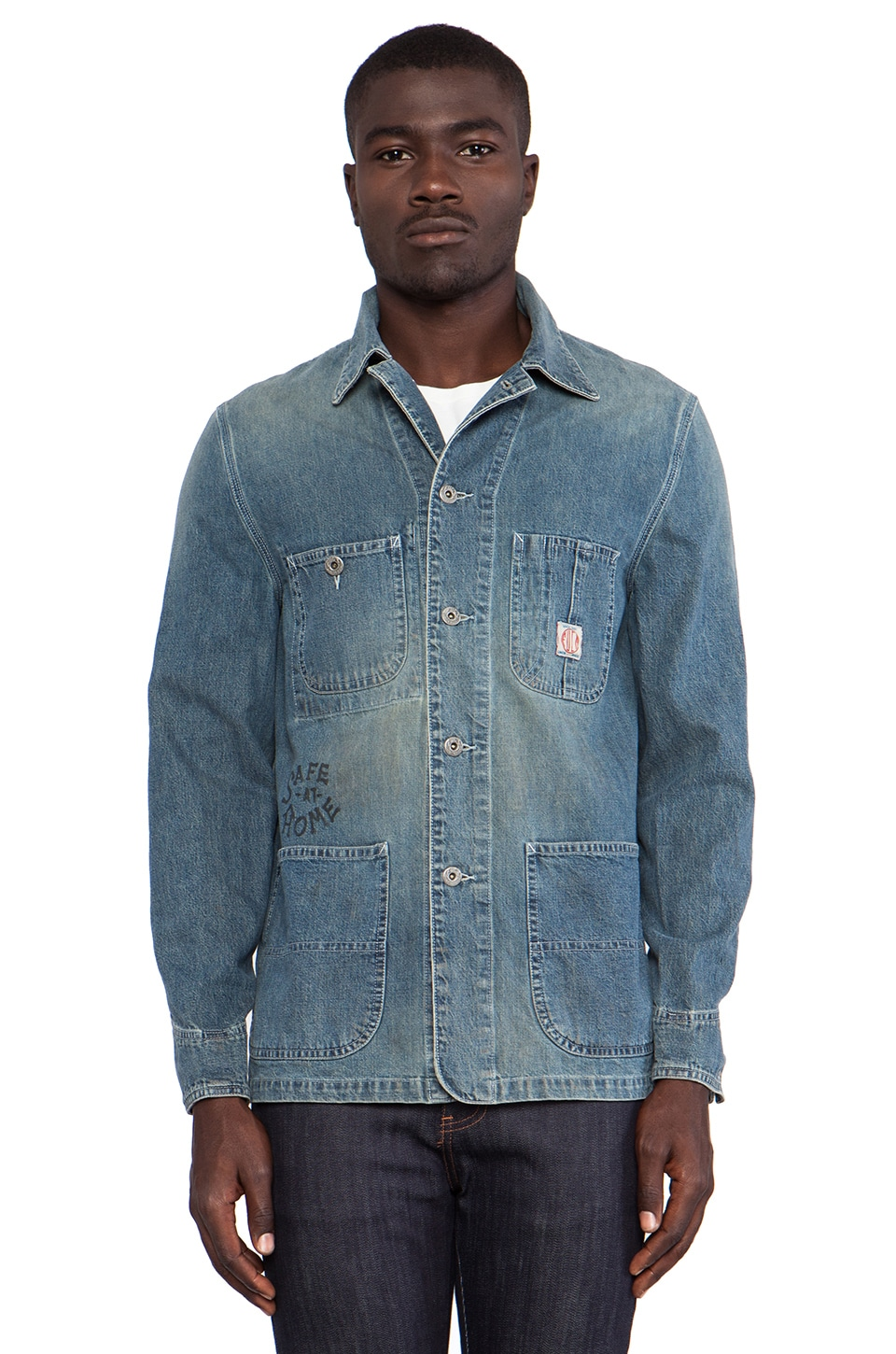 Fuct SSDD Heart on Fire Denim Coverall in Light Wash