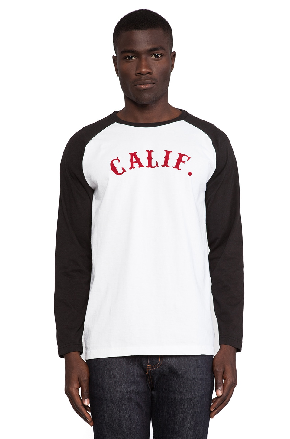 Fuct Calif. Raglan Tee in White/Black
