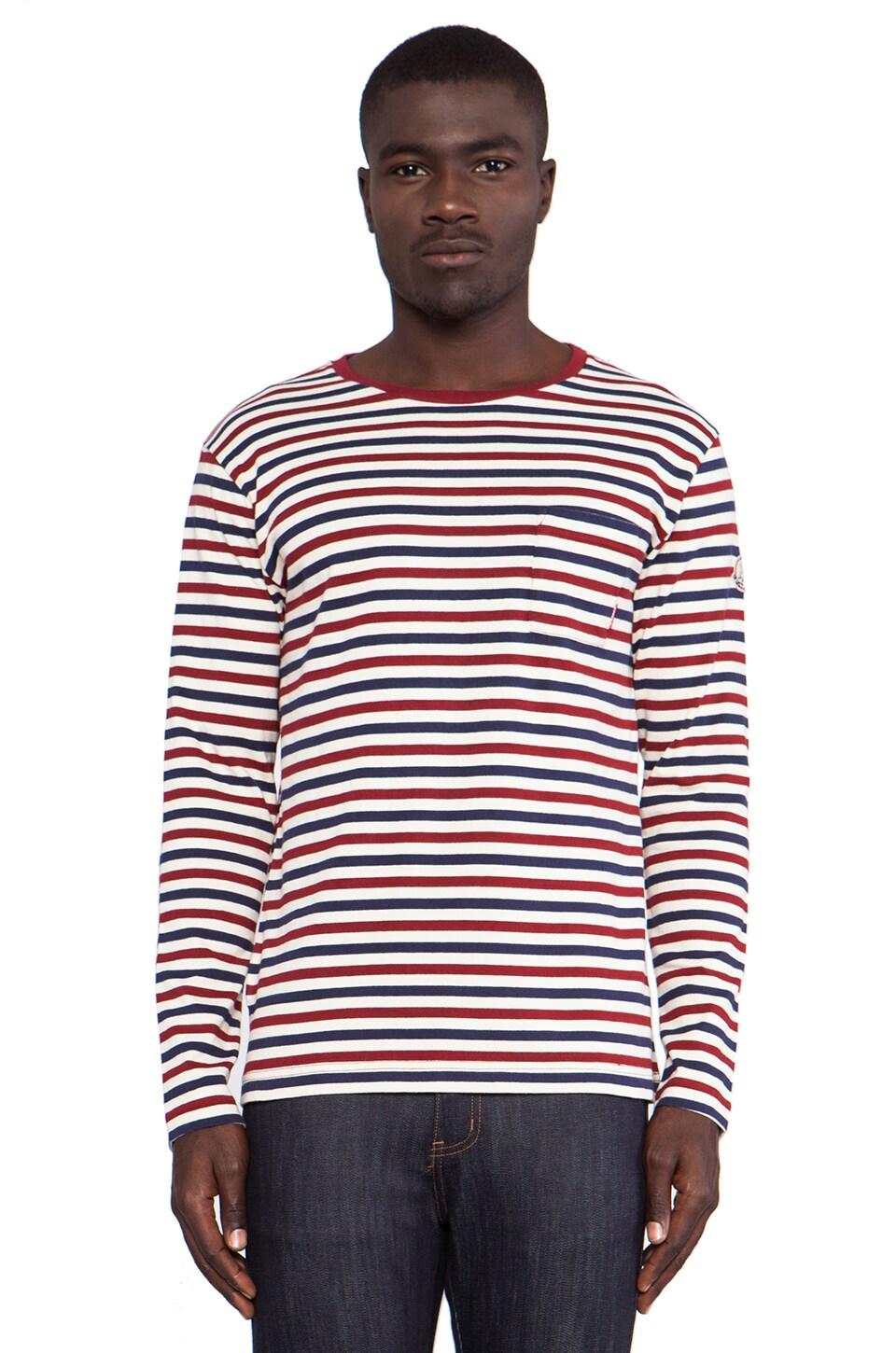 Fuct Border L/S Tee in Tricolor