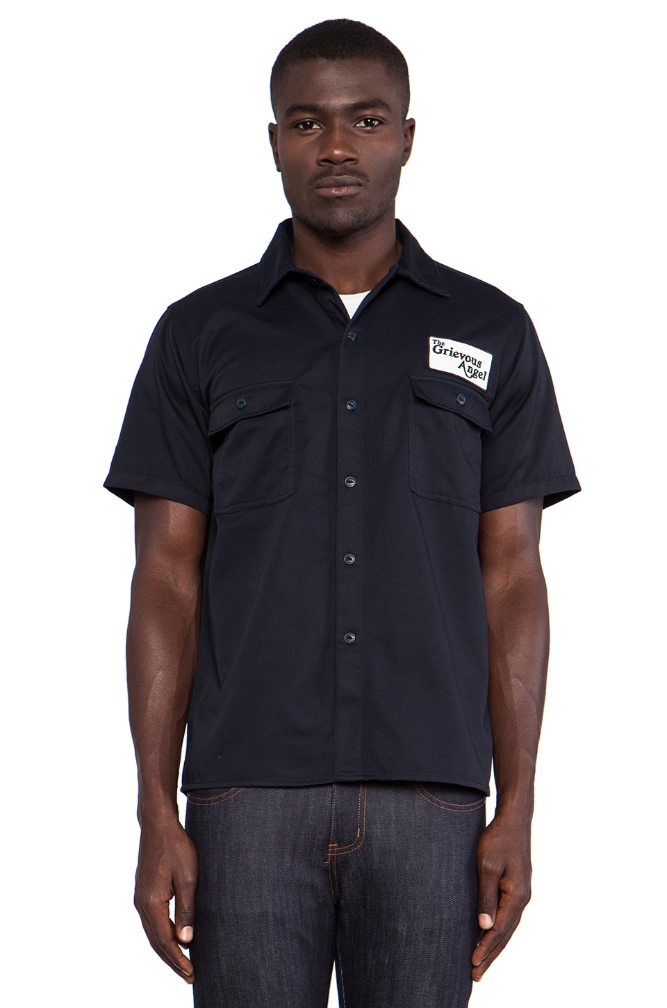 Fuct Grievous Angel Button Down in Navy