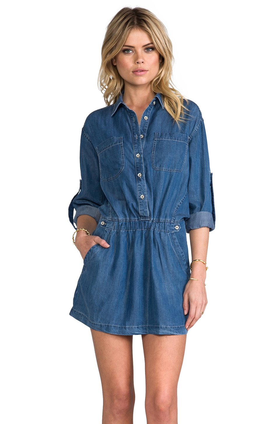 Funktional Blue Hour Shirt Dress in Denim