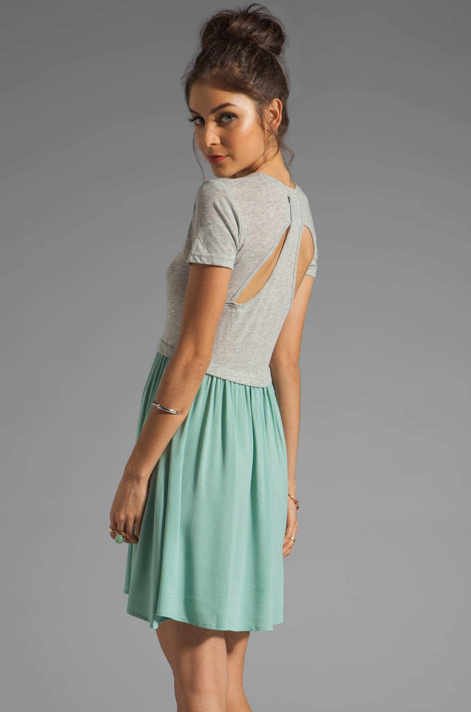 Funktional Path Back Detail Dress in Sage Path