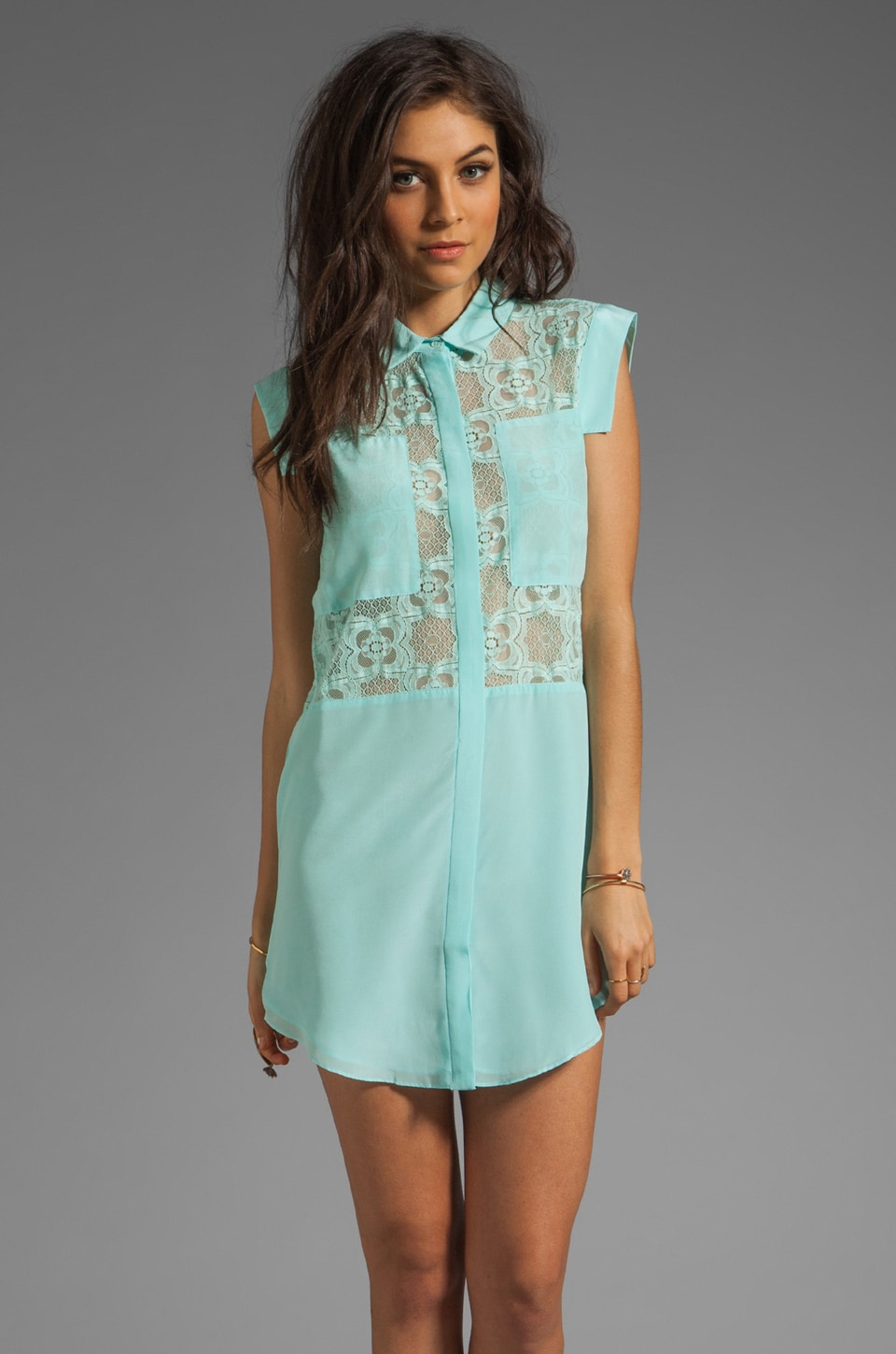 Funktional Digital Panel Dress in Digital Mint