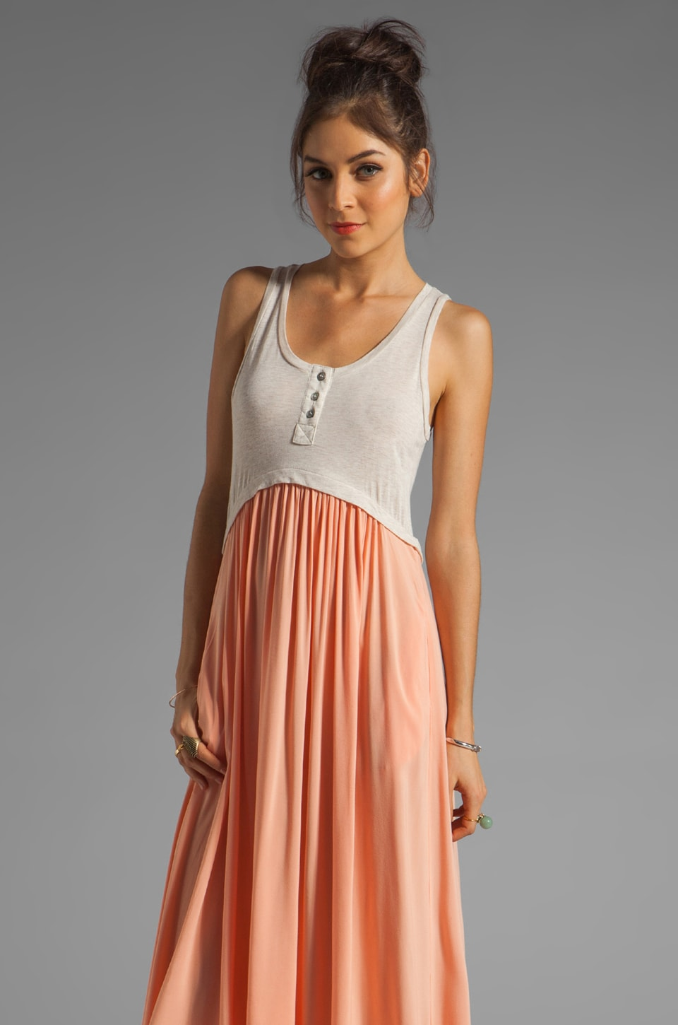 Funktional Path Maxi Dress in Peach Path