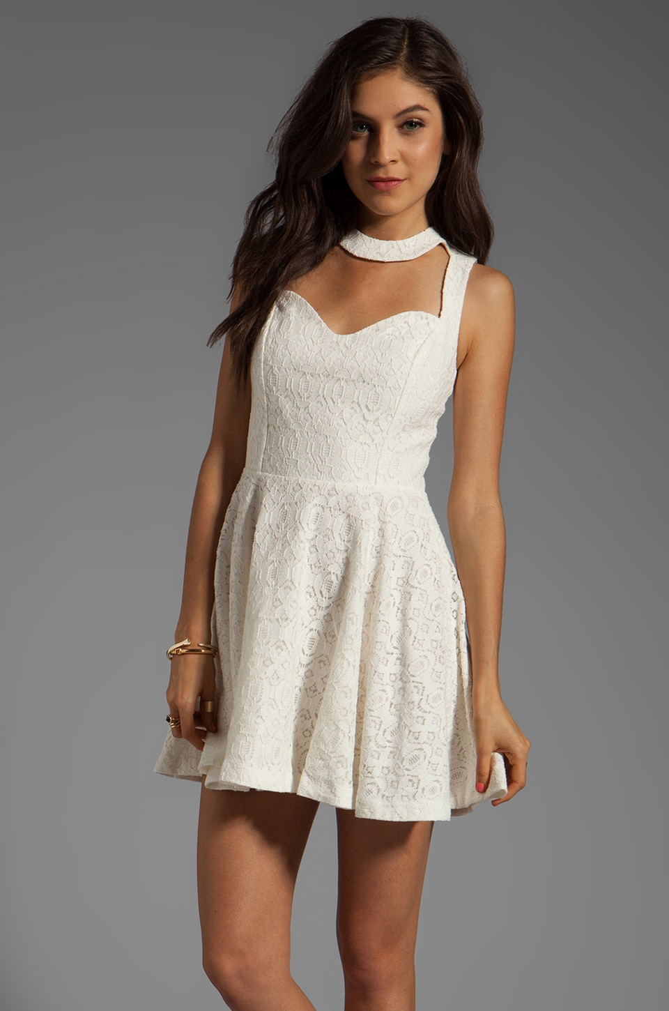 Funktional Sleeveless Frame Dress in White Optical