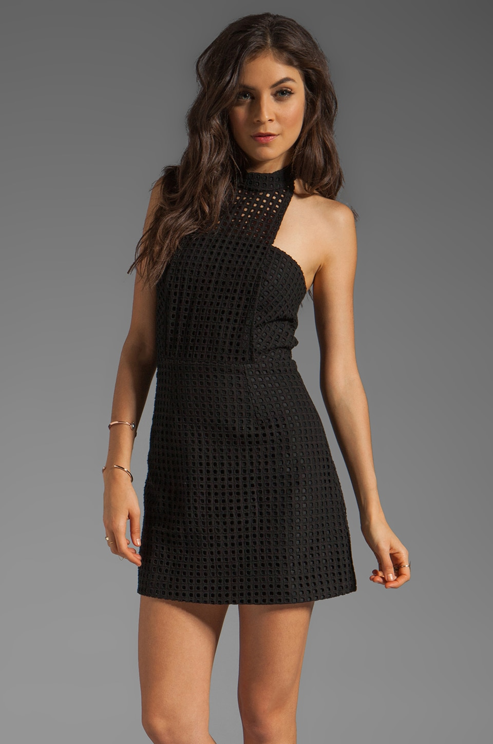 Funktional Chamber Halter Dress in Black