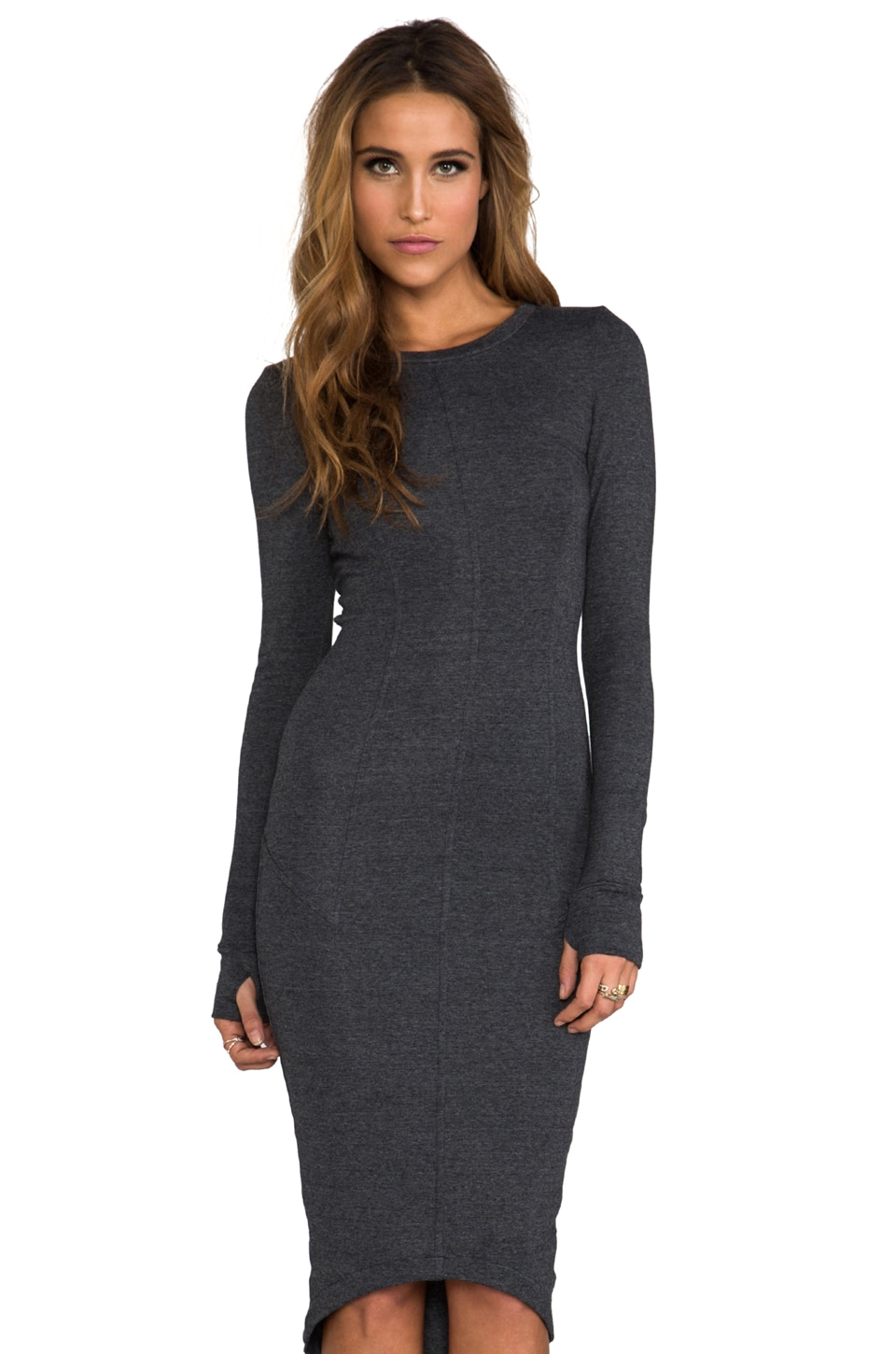 Funktional Storm Long Sleeve Dress in Charcoal