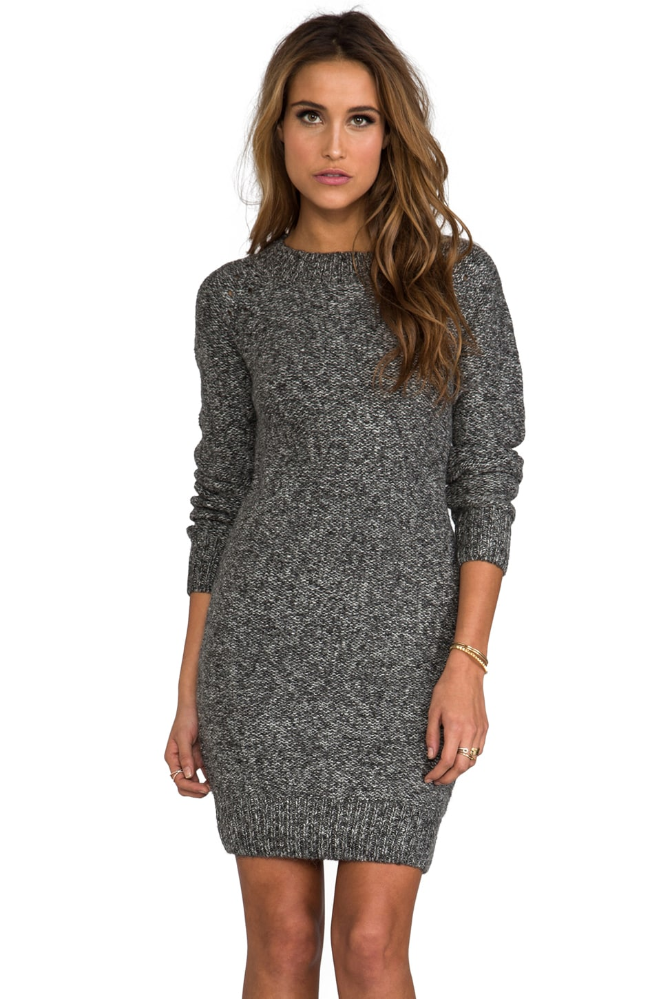 Funktional Orion Sweater Dress in Charcoal