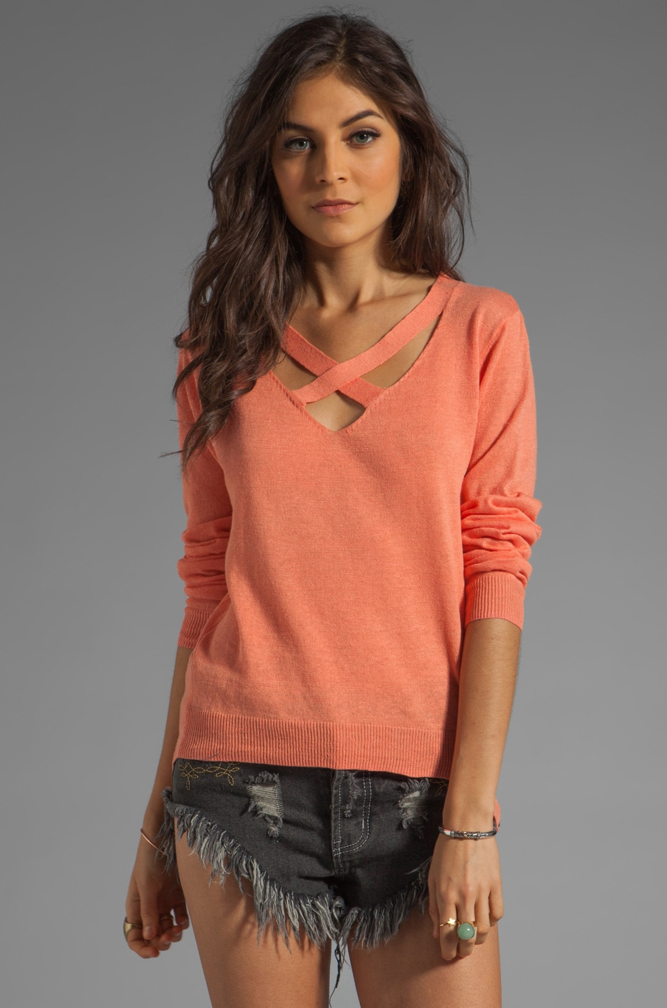 Funktional Media Sweater in Media Coral