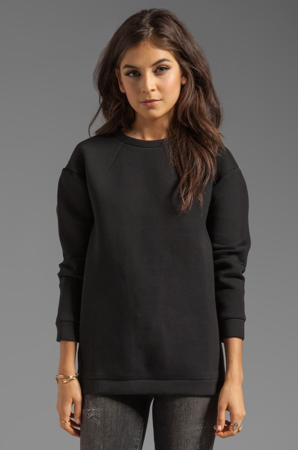 Funktional Ozone Dart Sweatshirt in Black