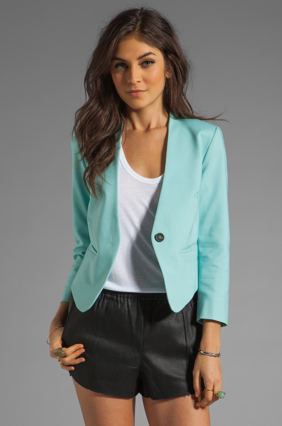 Funktional Hi-Res Curved Blazer in Hi-Res Cyan