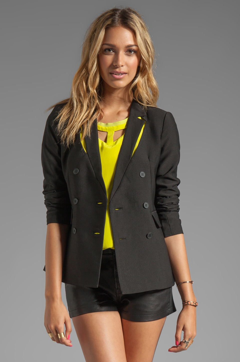 Funktional Reflection Cut Out Blazer in Black Reflect