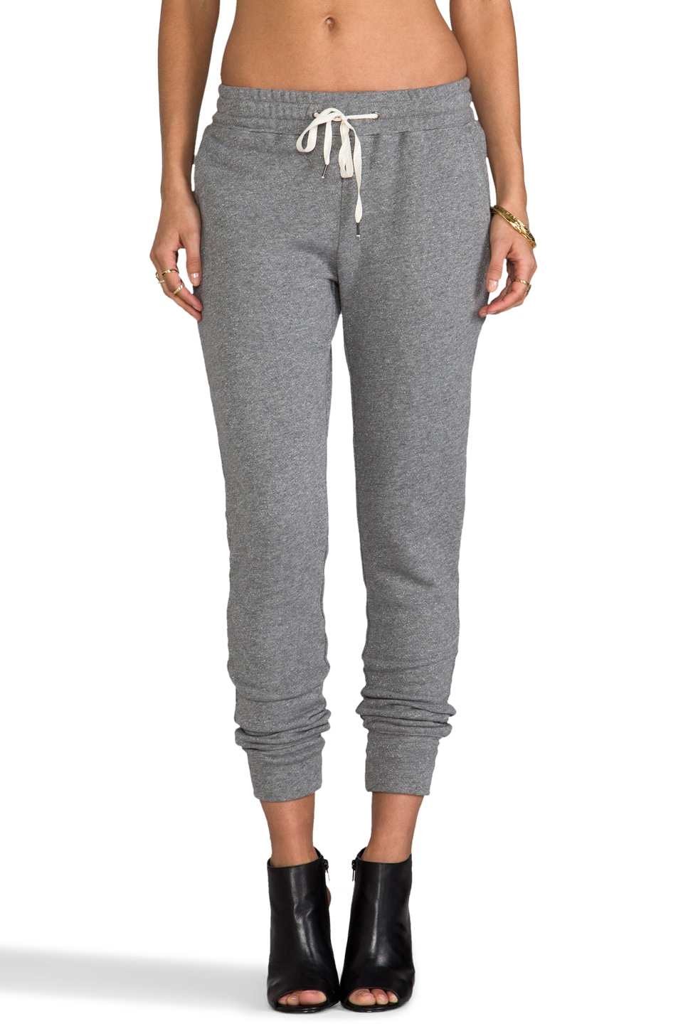 Funktional Illumination Tie Front Track Pant in Heather Grey