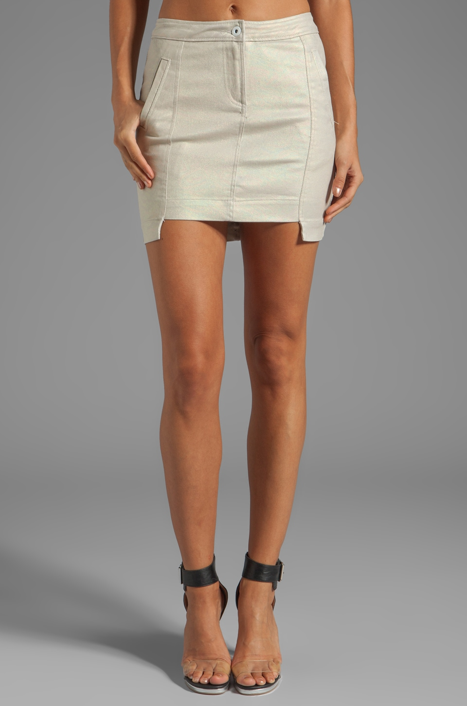 Funktional Molecular Twill Mini Skirt in Molecular