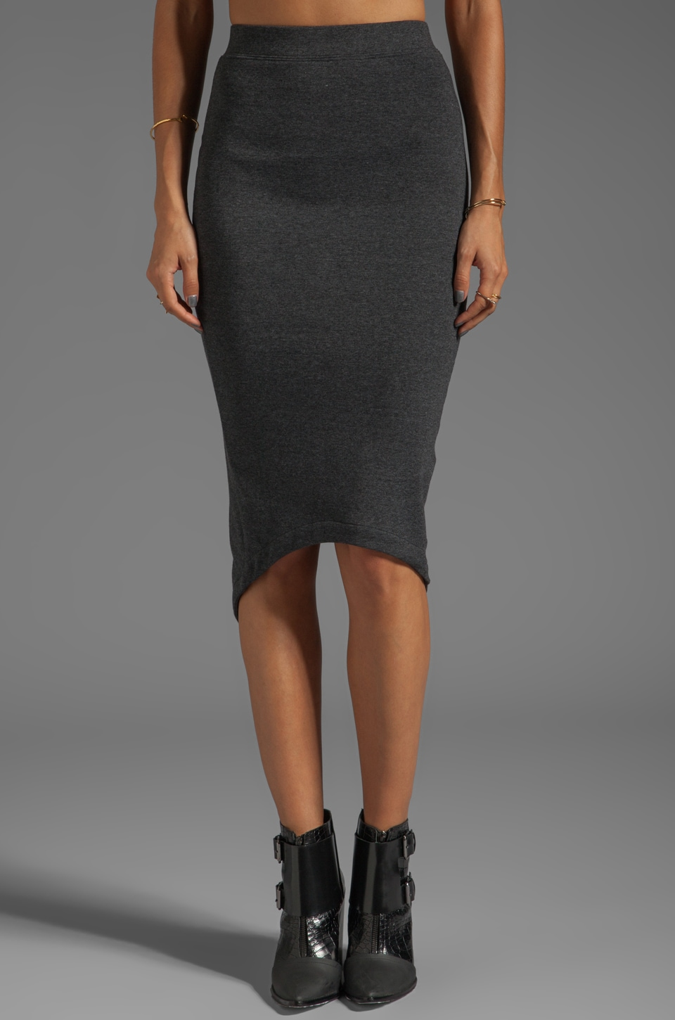 Funktional Storm Crossed Pencil Skirt in Charcoal
