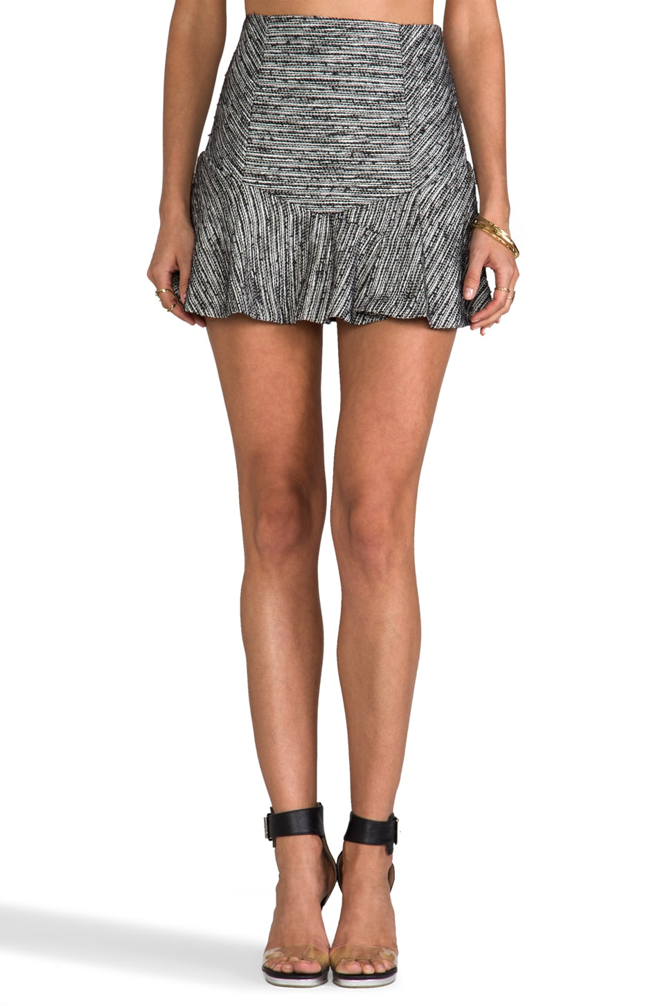 Funktional Frequency High Waisted Wool Skirt in Grey